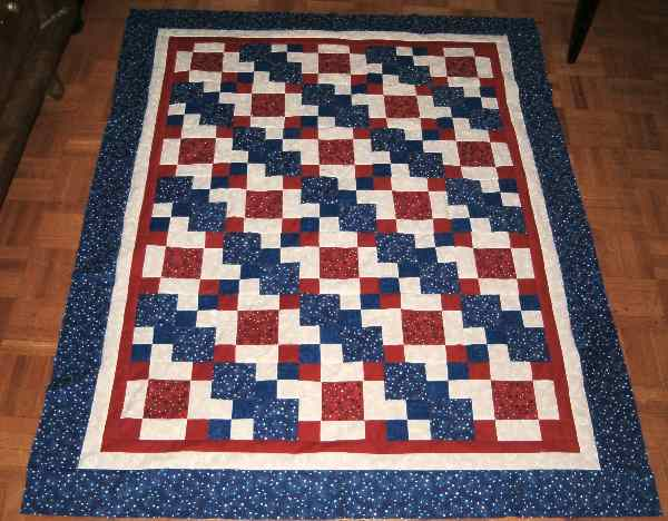 Red, White and Blue Baby Quilt.