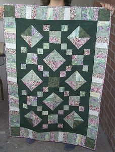A simple Jacob's Ladder Quilt