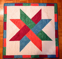 Twisted Star Quilt Gifted