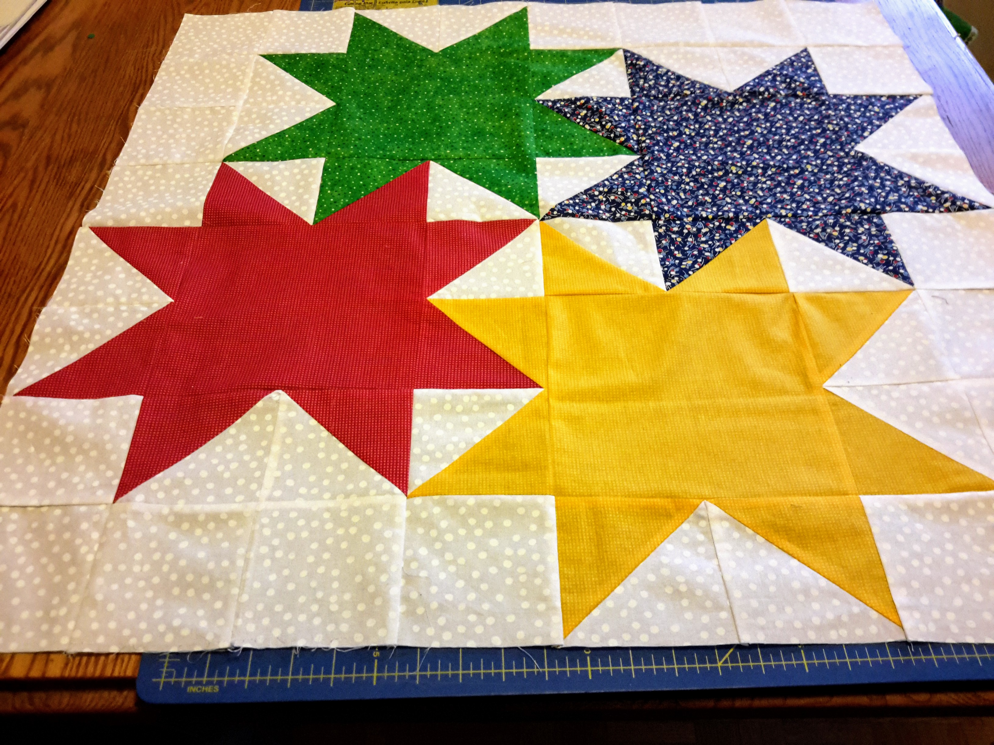 Gathered Star Quilt – Construction notes