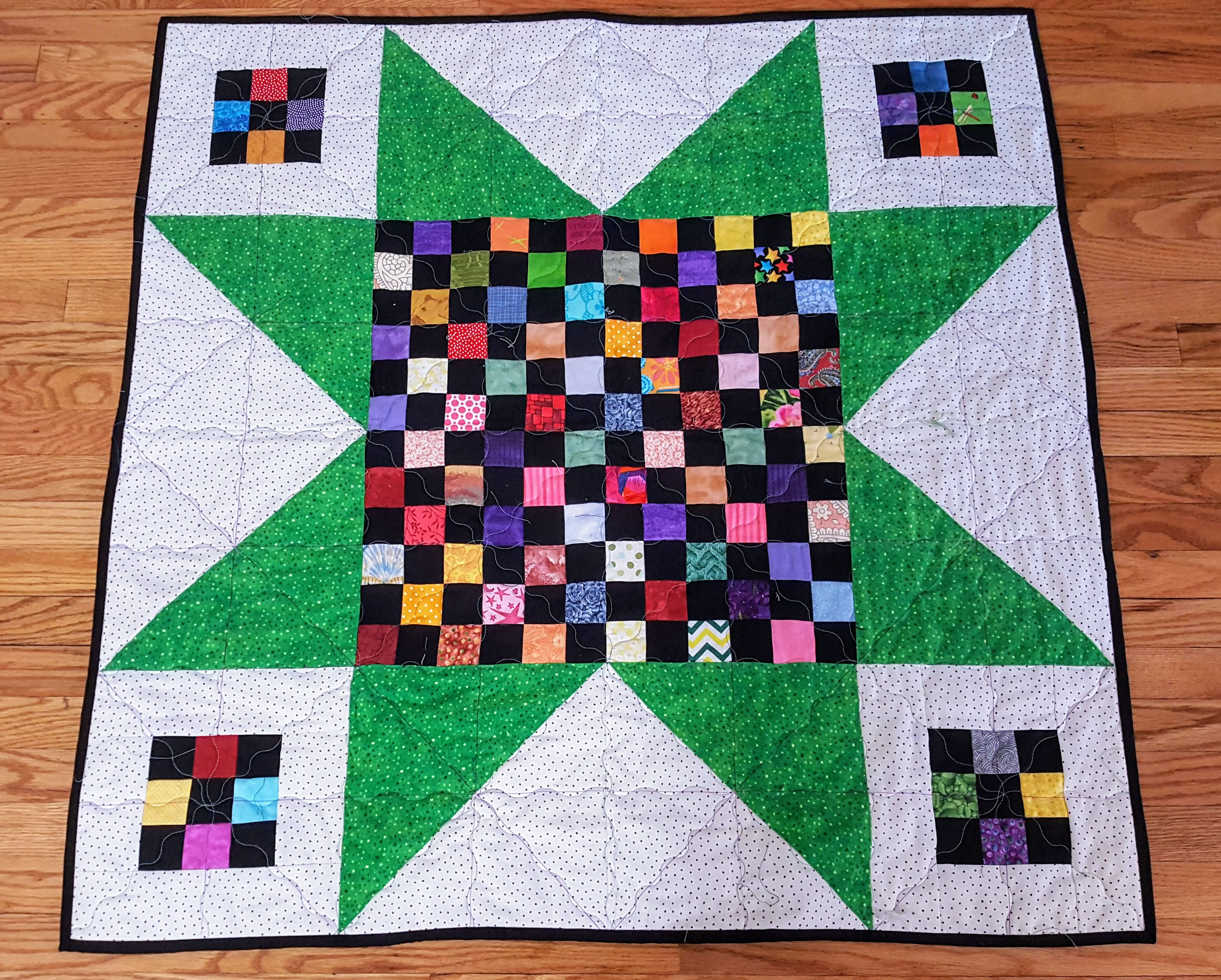 144 patch star quilt