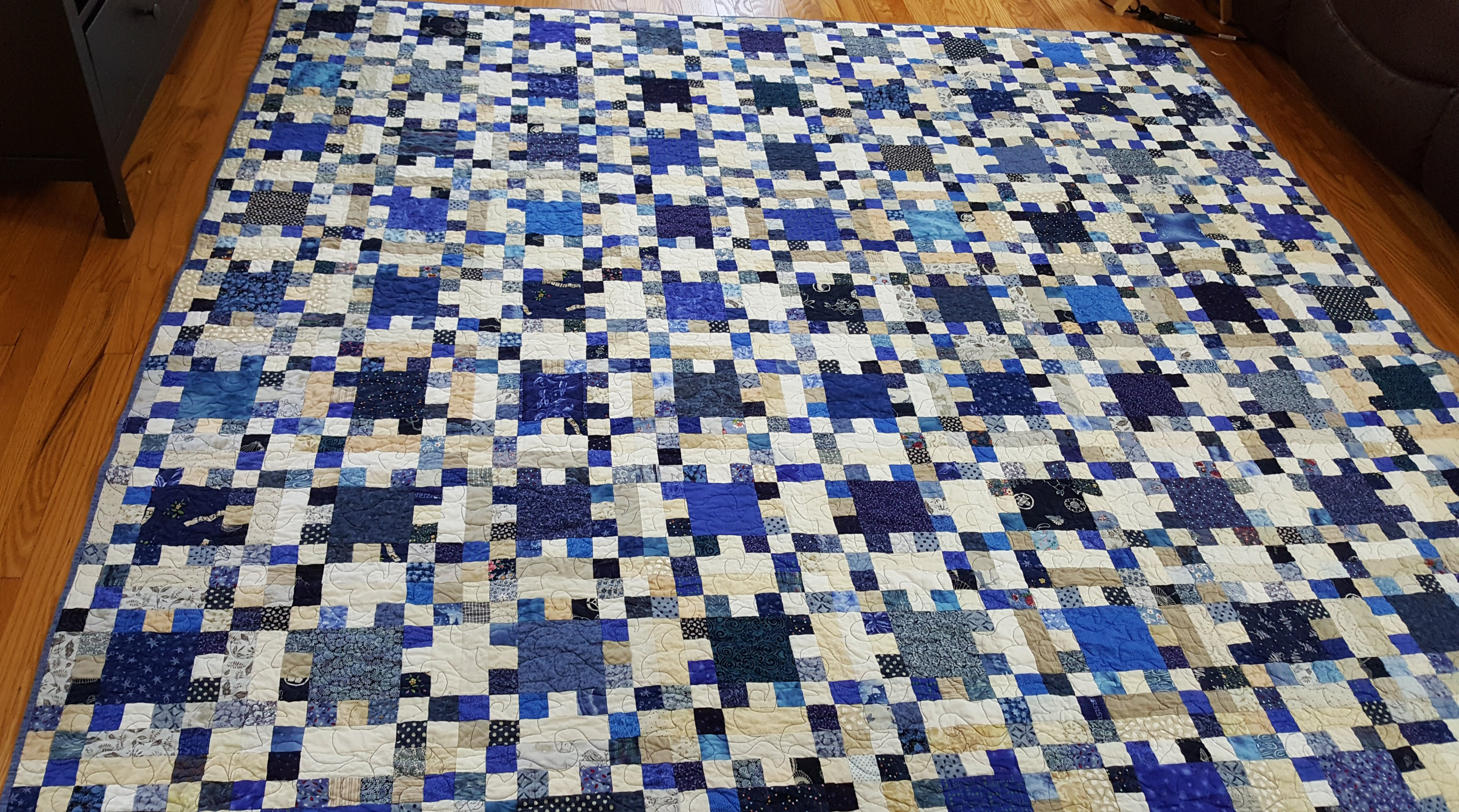 Idaho Square Dance queen size quilt