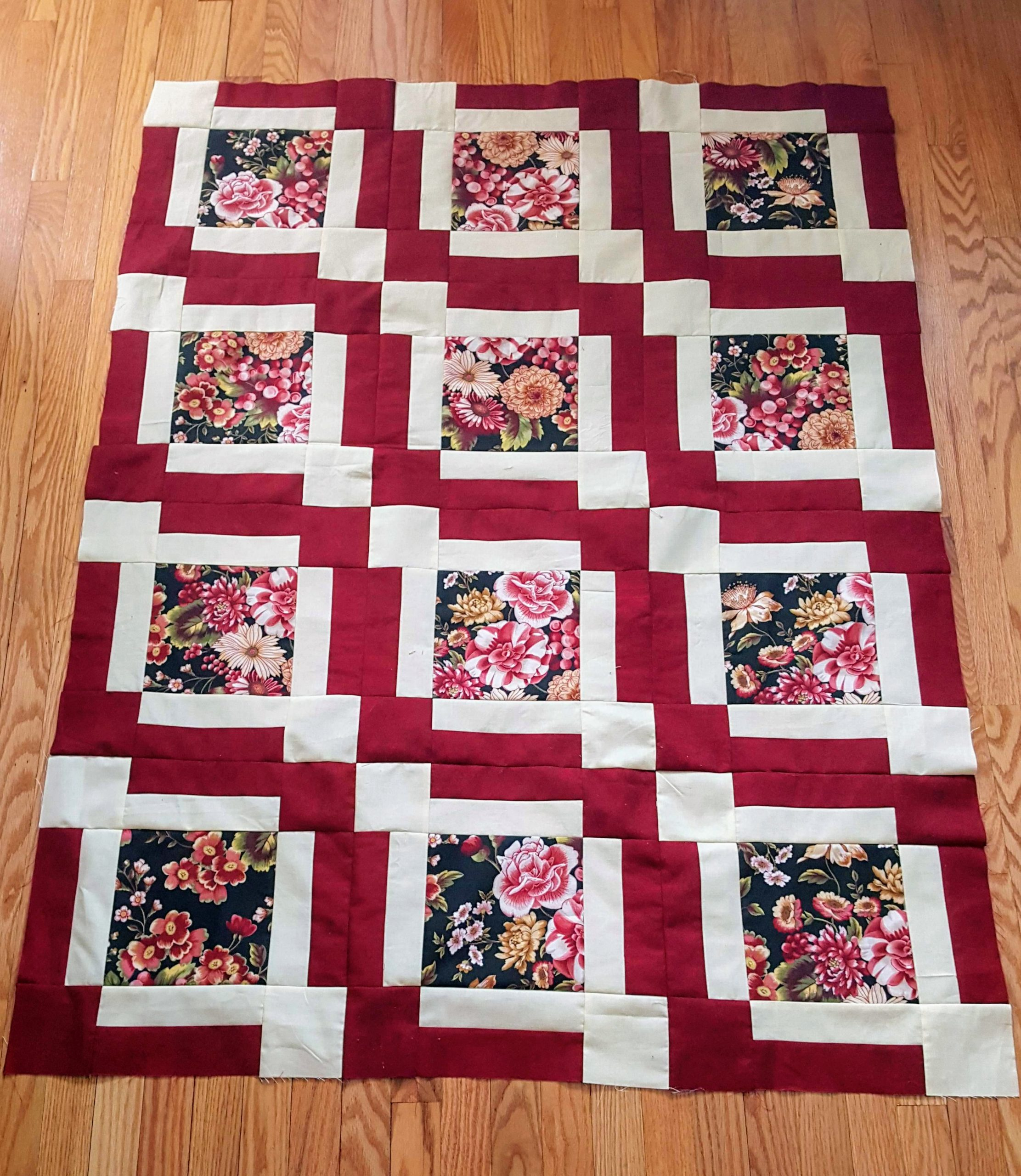 feature my fabric quilt top