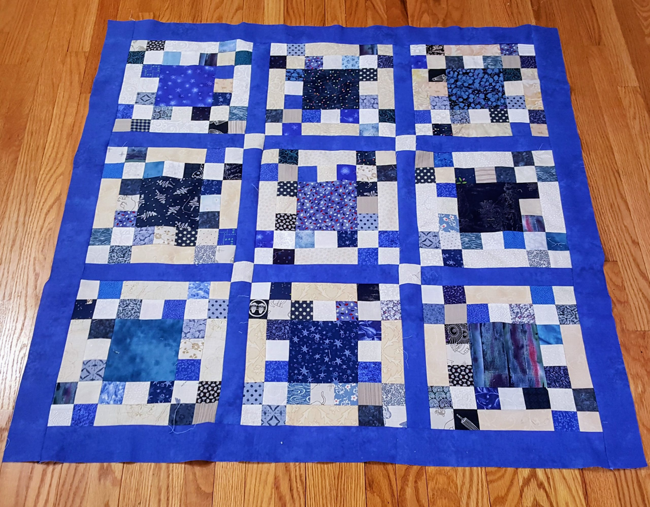 Small Idaho Square Dance Quilt Top
