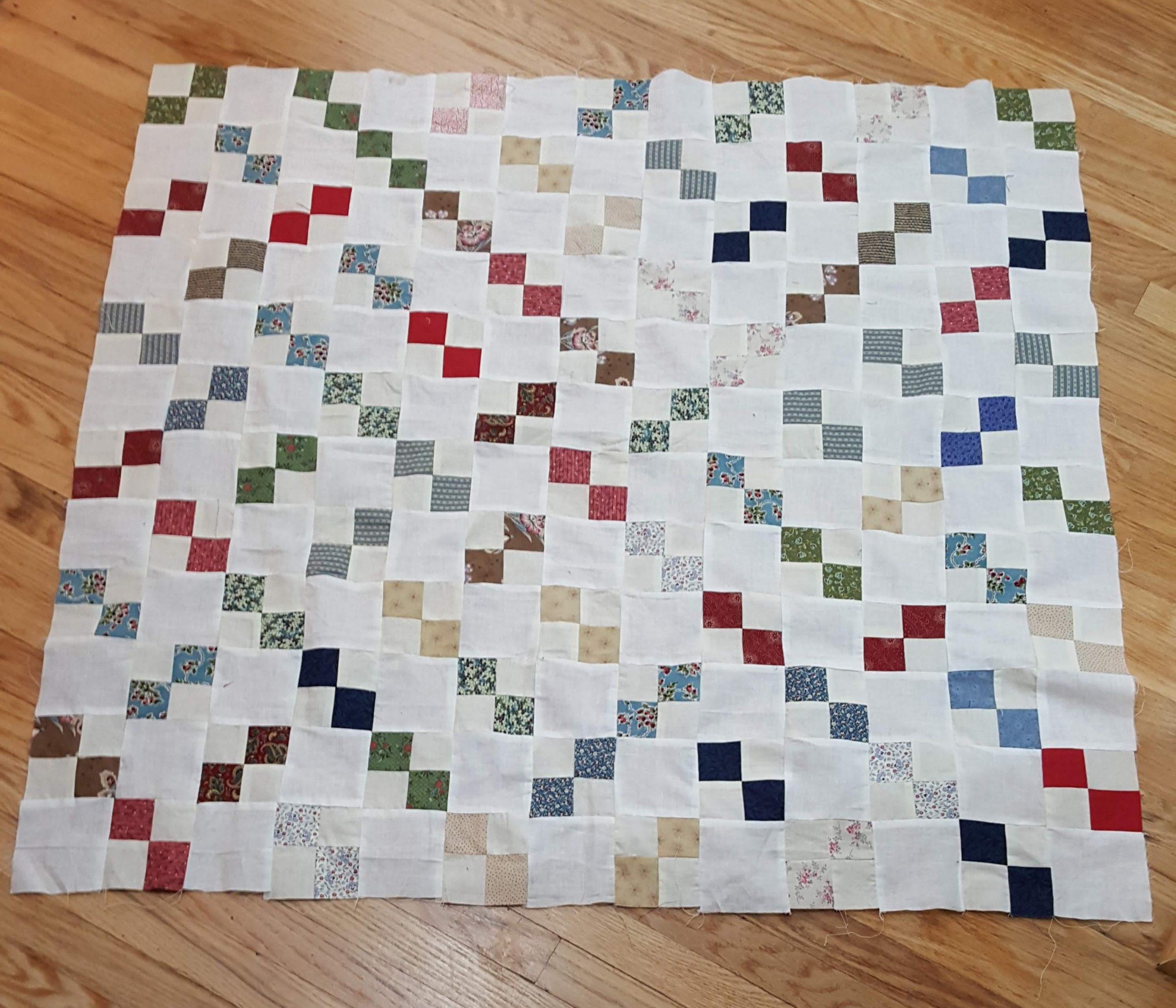 4 patch quilt top