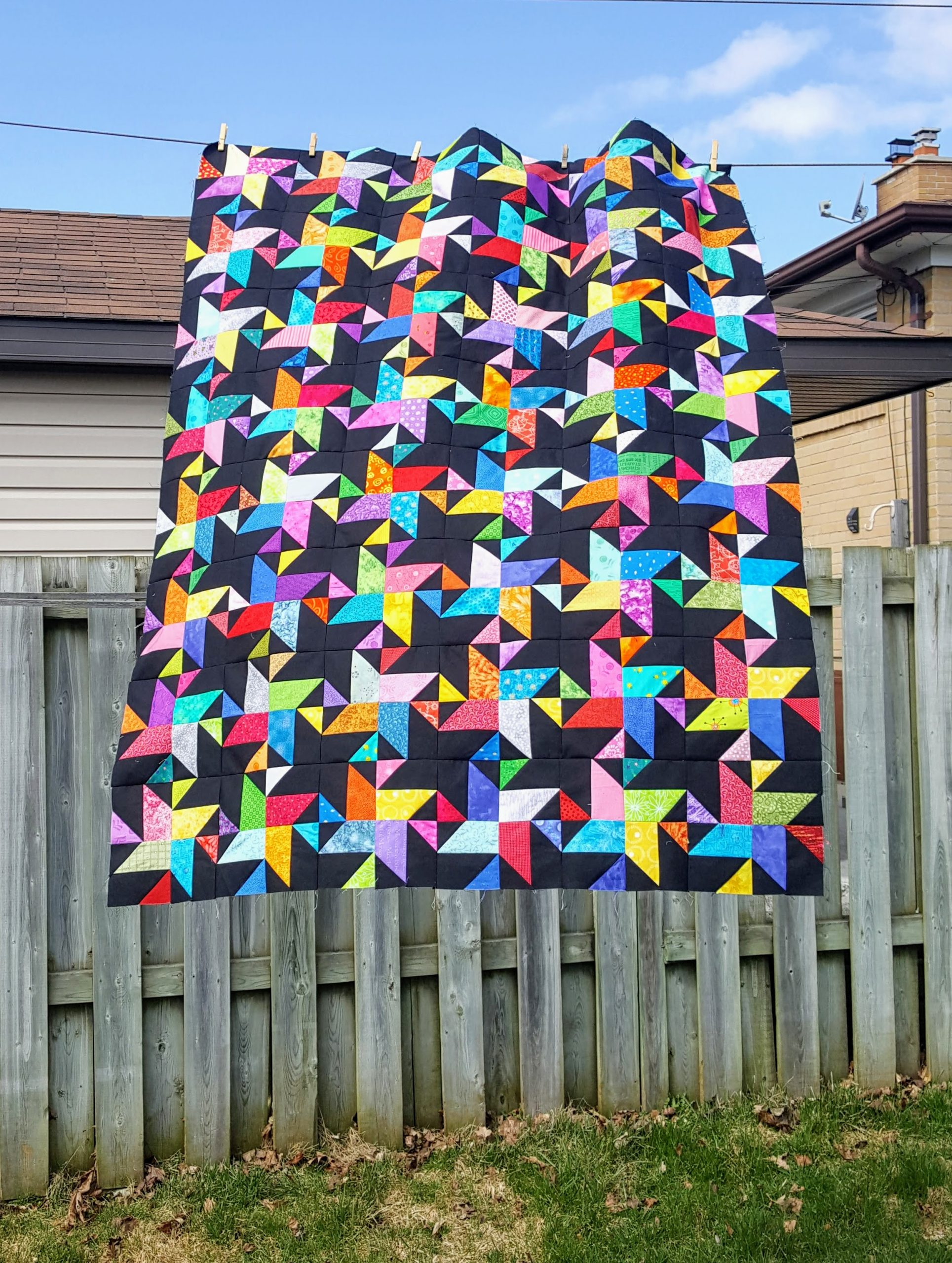 star struck quilt top without borders