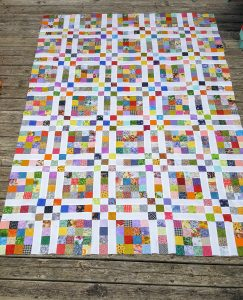 scrappy quilt layout