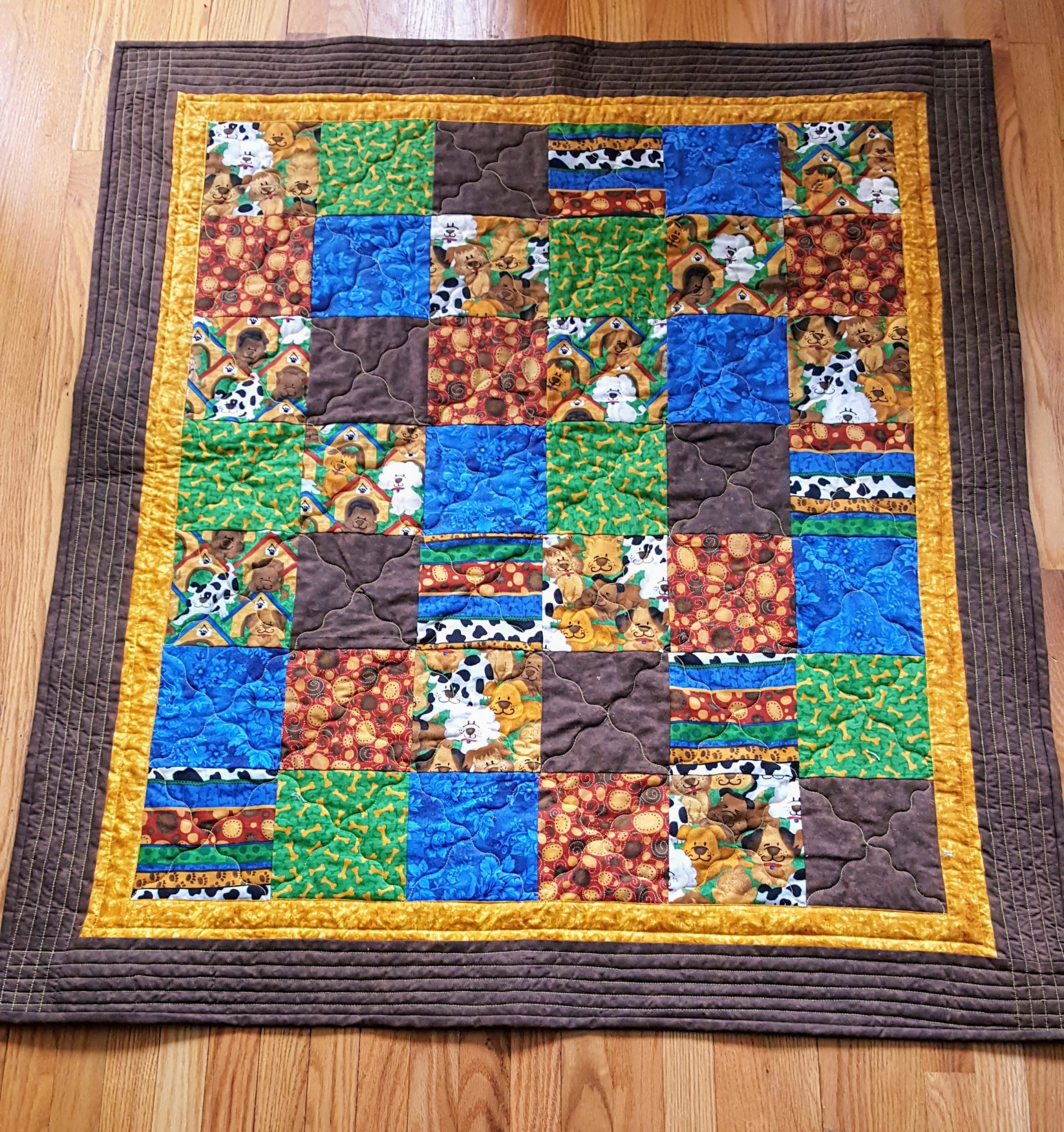 dog themed quilt