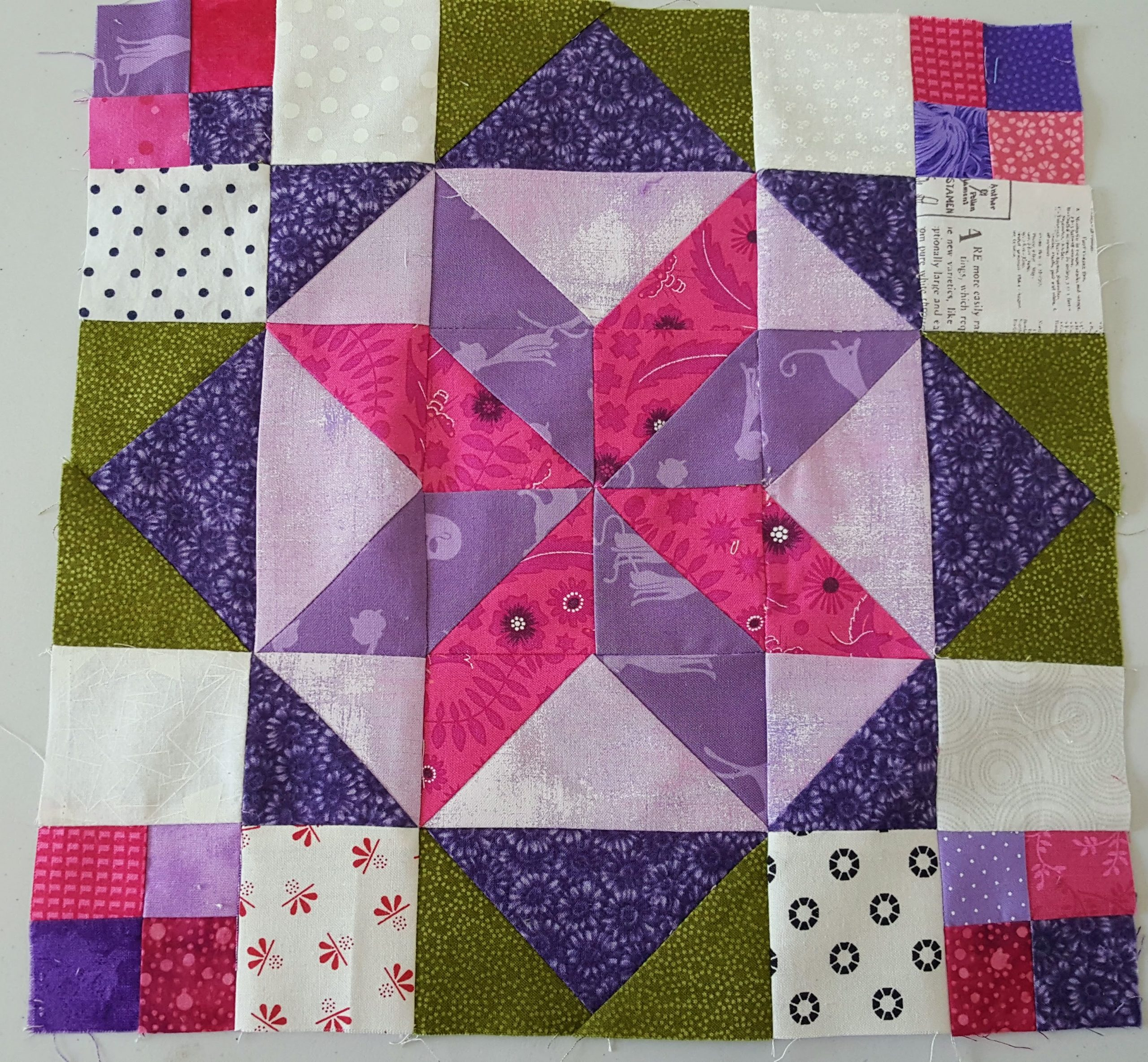 frolic quilt in progress