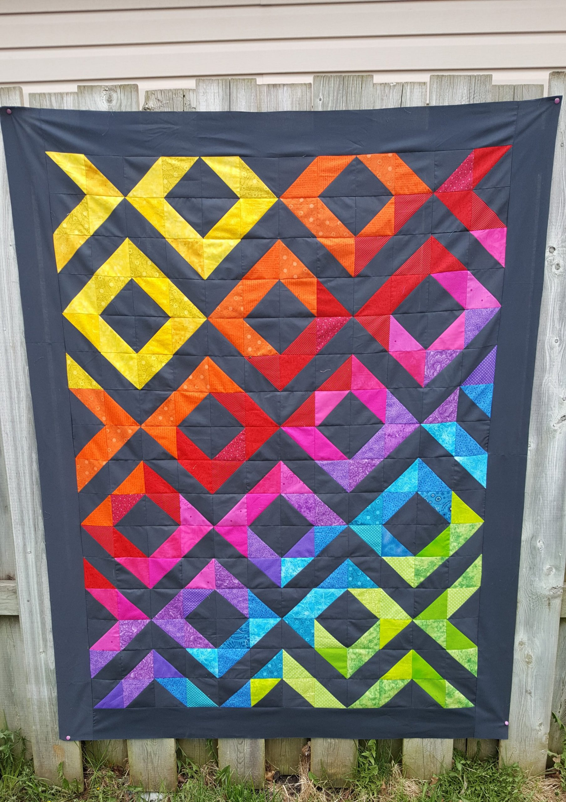 diamon brights quilt top