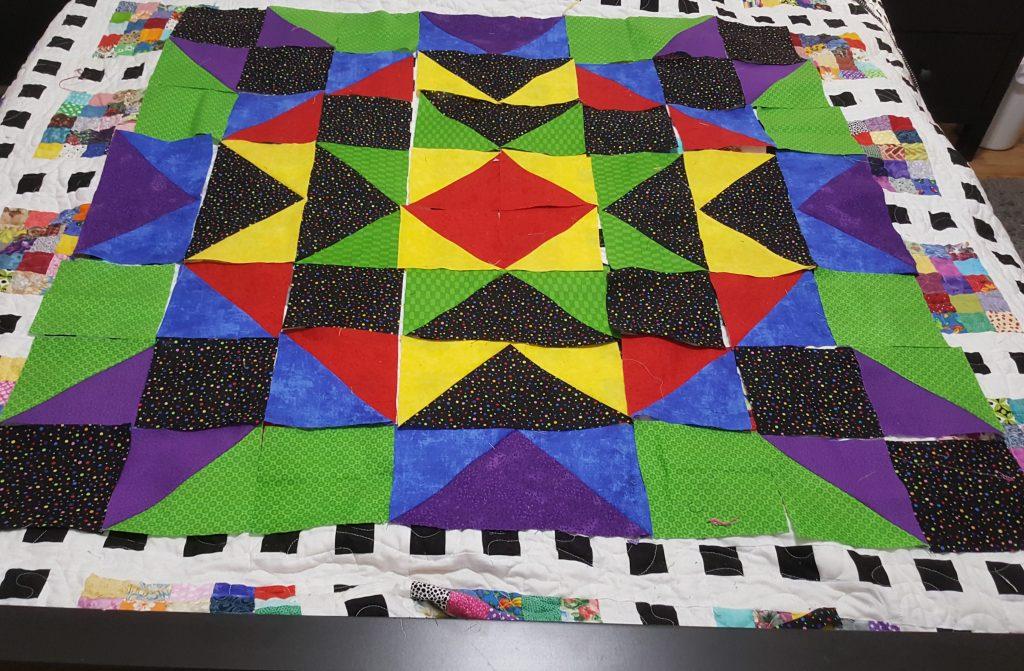 star quilt layout