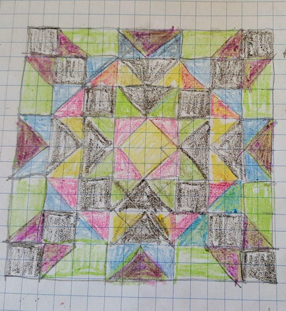 star quilt sketch