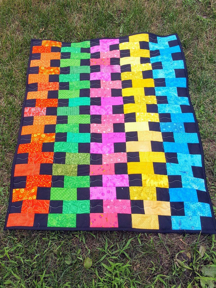 black zipper quilt