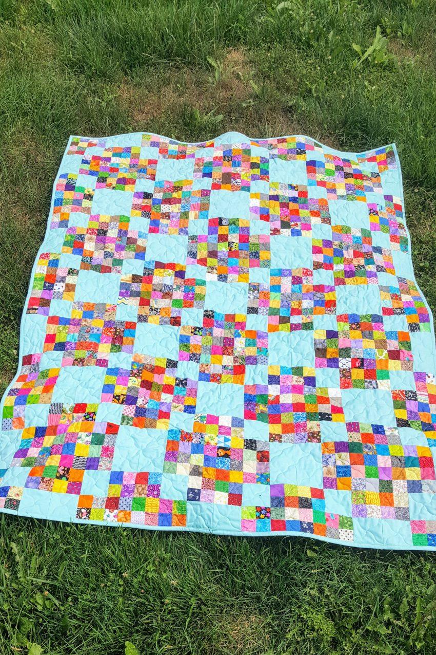 scrappy quilt top