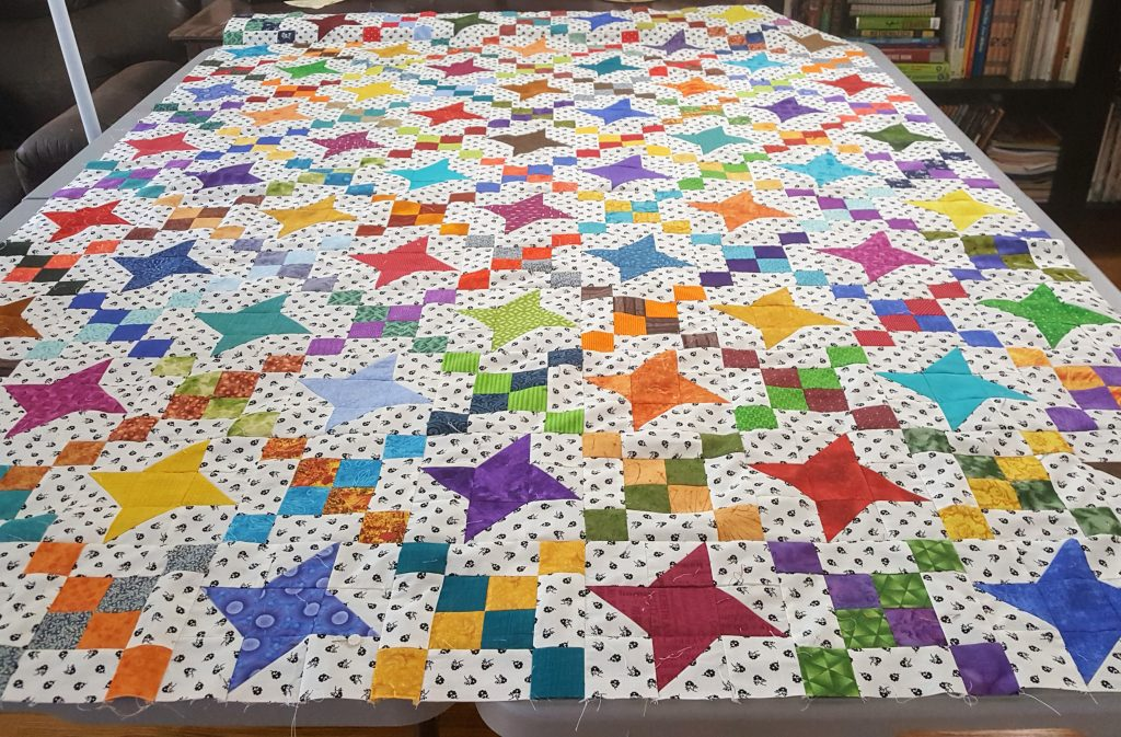 leader ender quilt top before borders