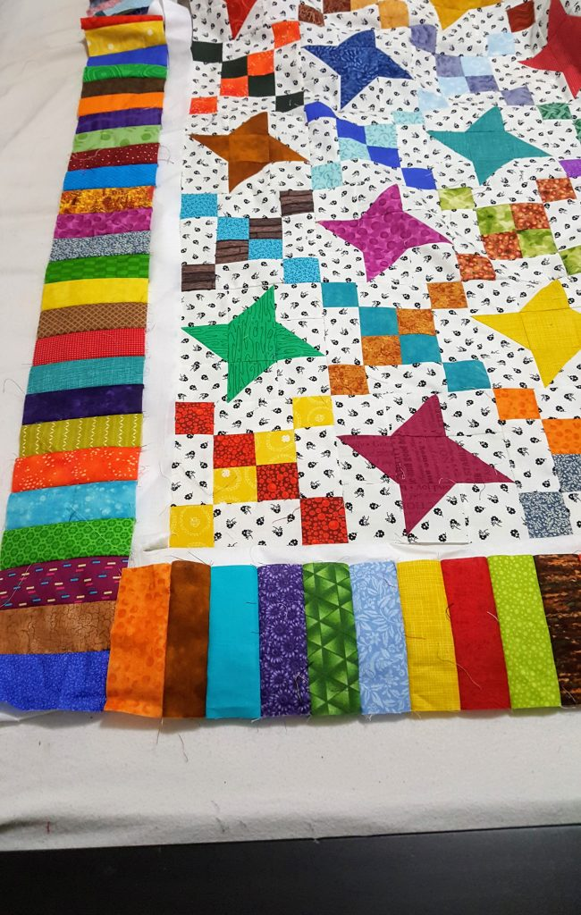 auditioning quilt borders