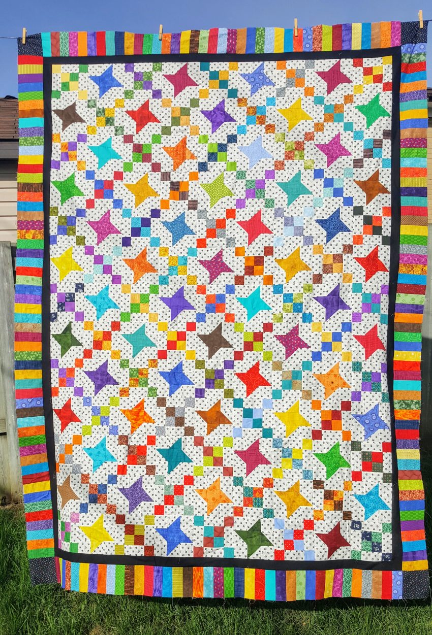 garlic knot quilt blocks and friendship star quilt blocks