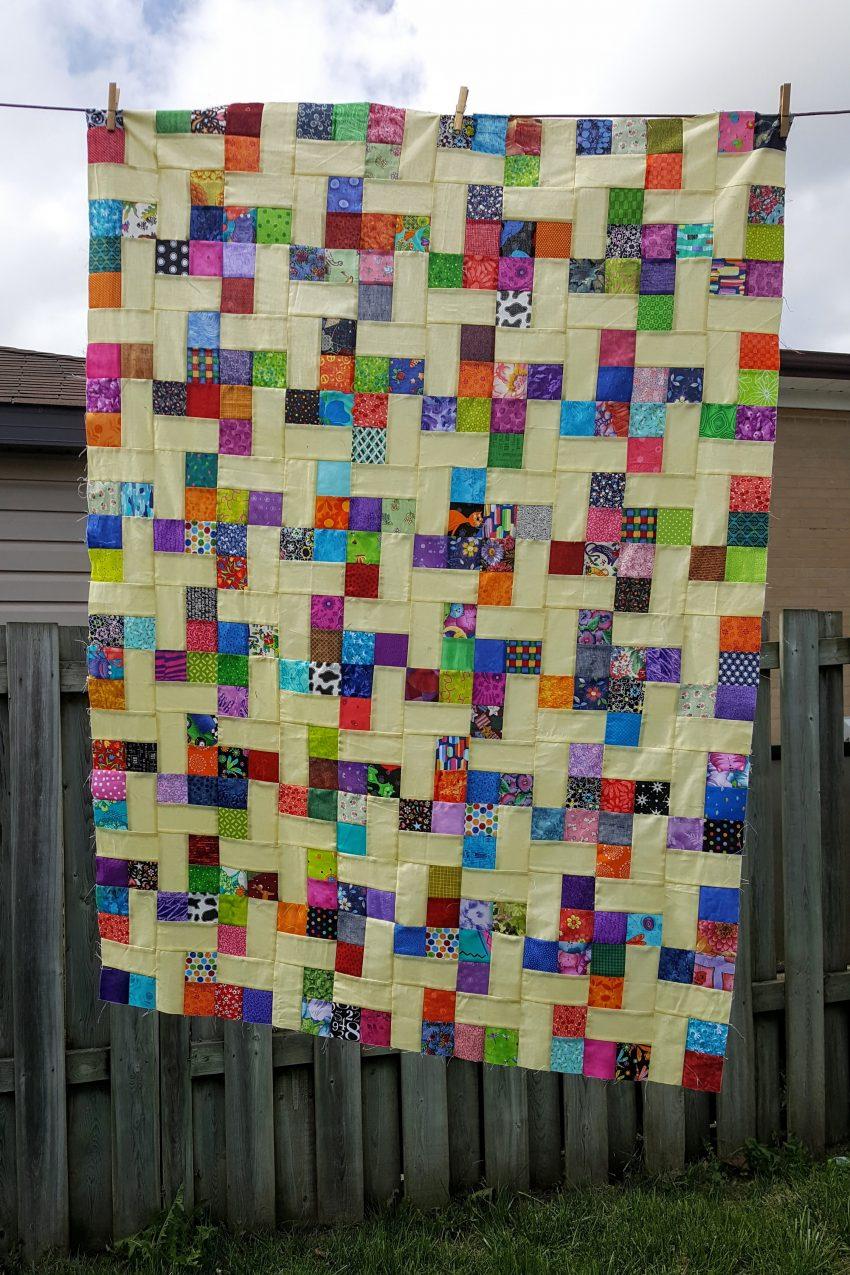 mellow yellow quilt scrap quilt