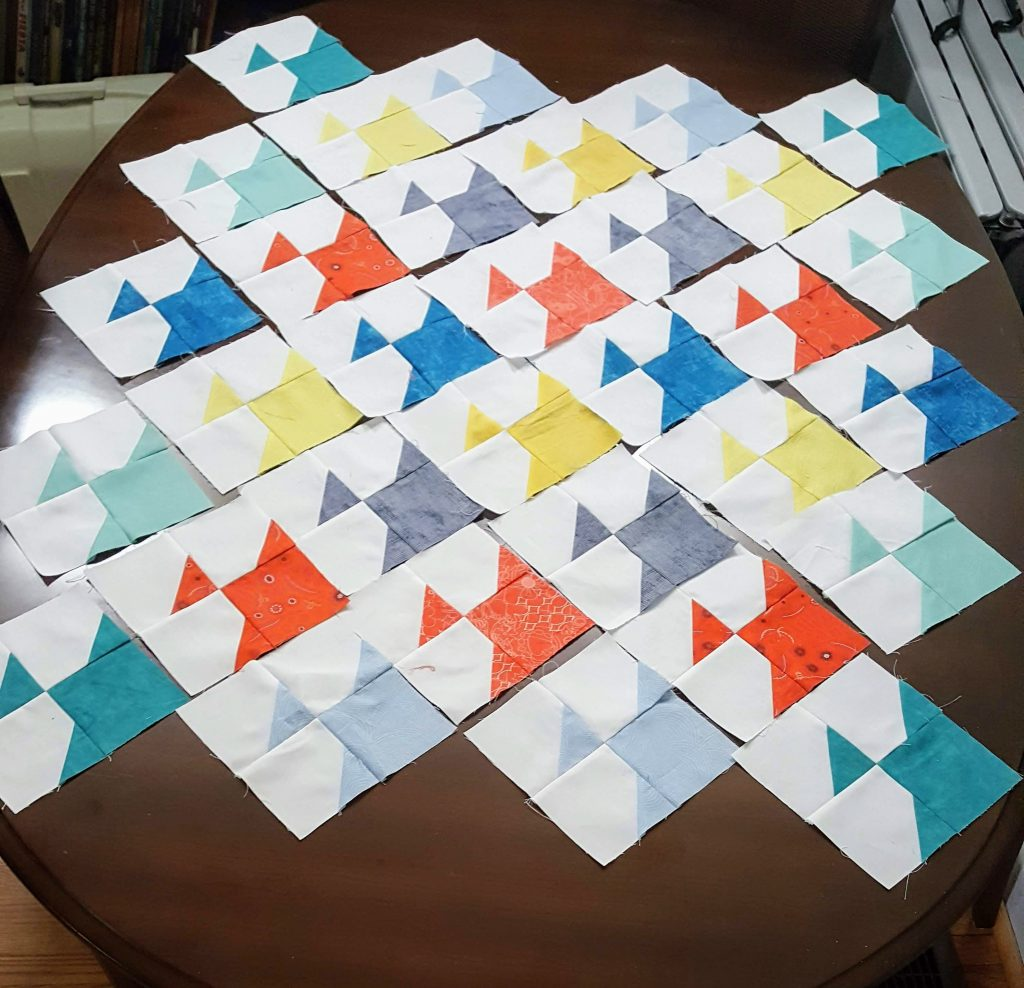 Second quilt center layout