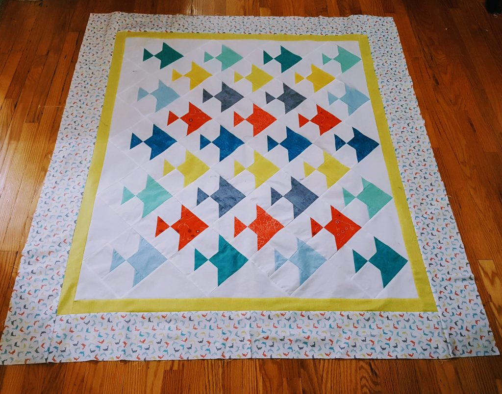 there is something fishy about this quilt prior to binding