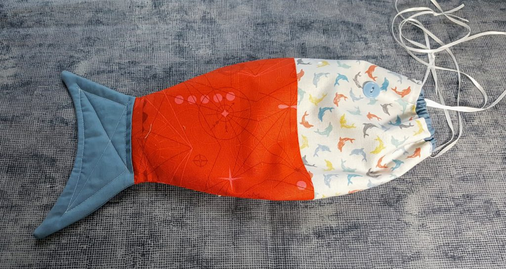 orange fish shaped bag