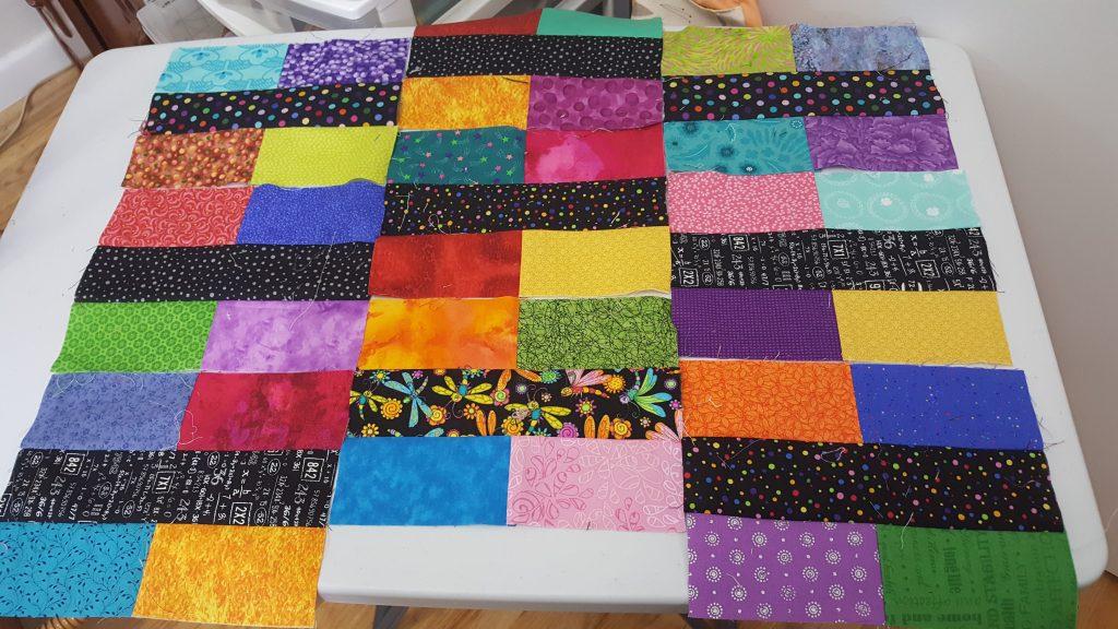 bricks and strip quilt