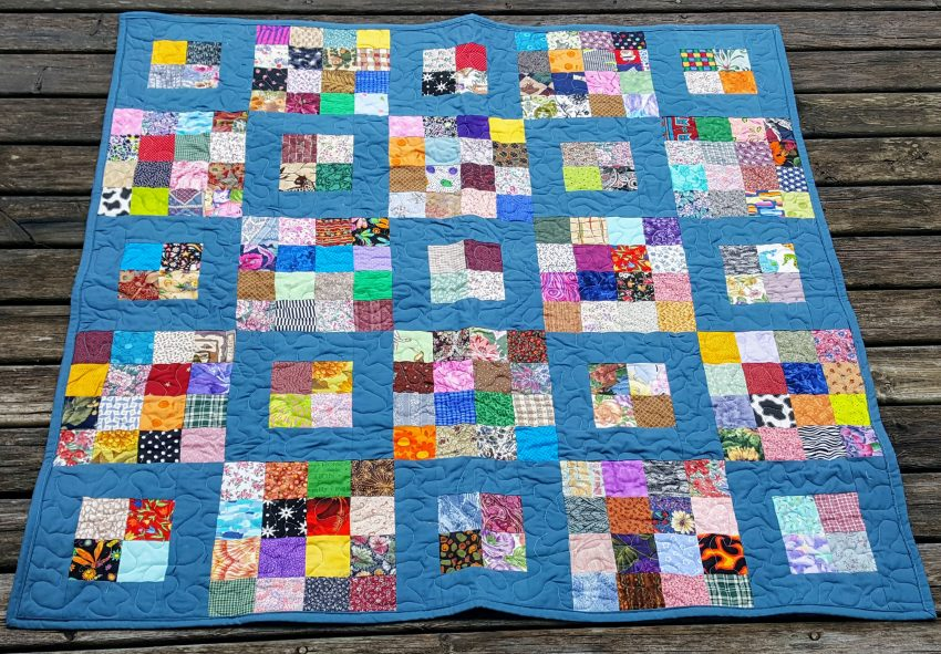 the ugly quilt finished