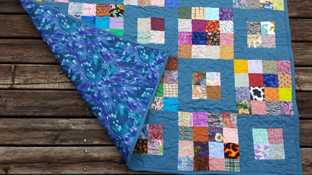 ugly quilt with backing