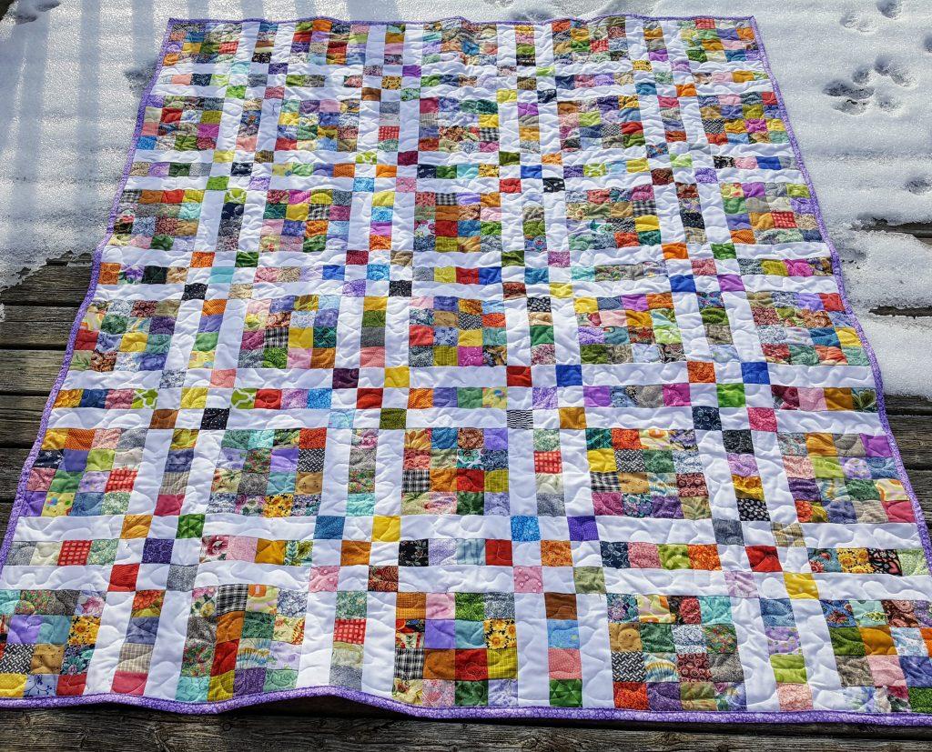 Happy scrappy quilt
