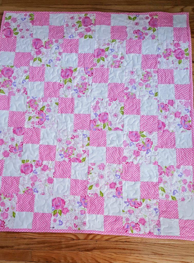 Dotty Flower Flannel Quilt