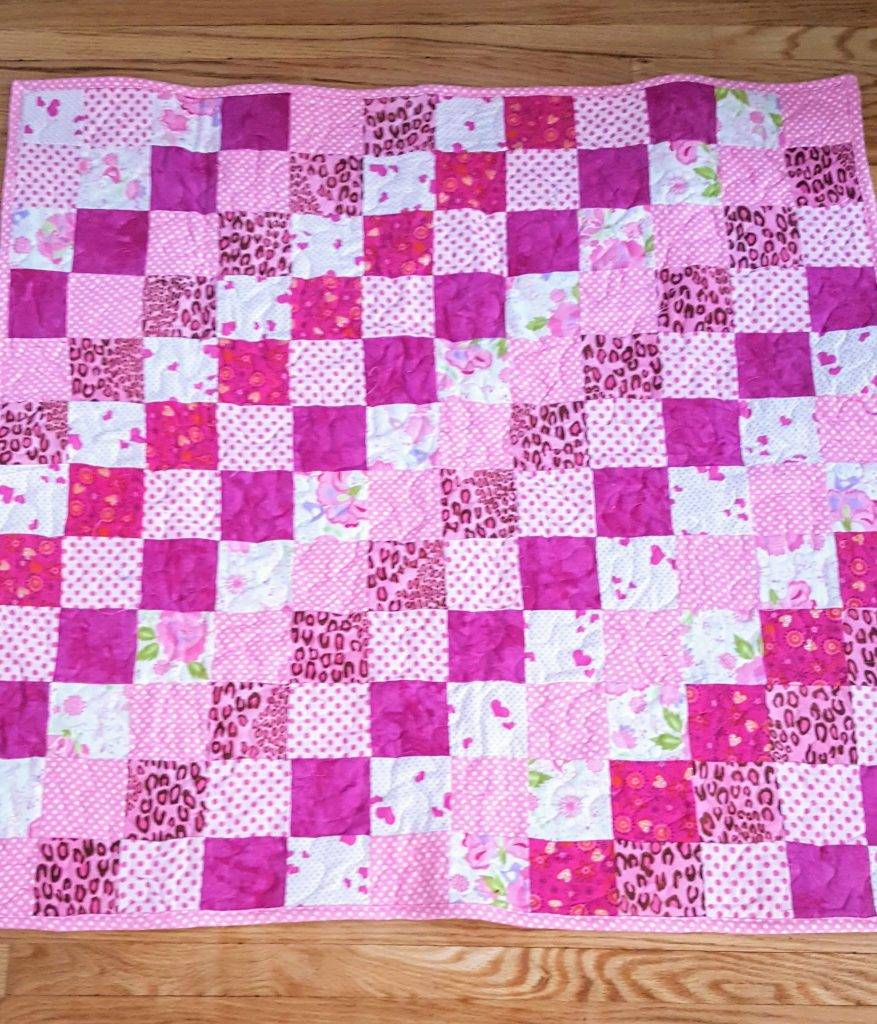 Rows of Pink Quilt