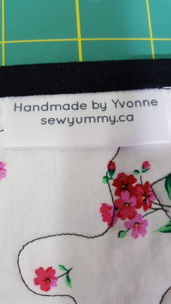 Sewyummy's quilt label